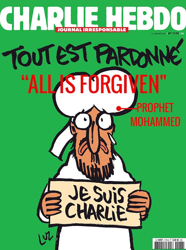 Charlie Hebdo cover (translated)